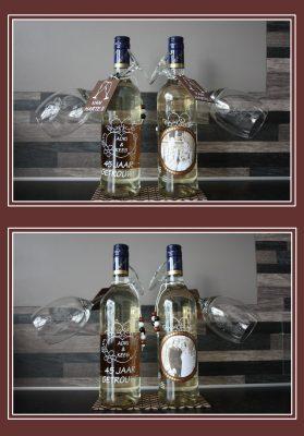foto wijnflessen 45-jarig jubileum