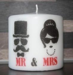 foto decoratiekaars huwelijk