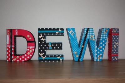 foto decoratieletters Dewi