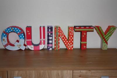 foto decoratieletters Quinty