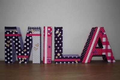 foto decoratieletters Mila