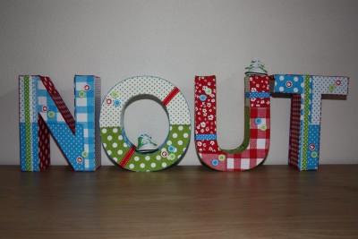 foto decoratieletters Nout