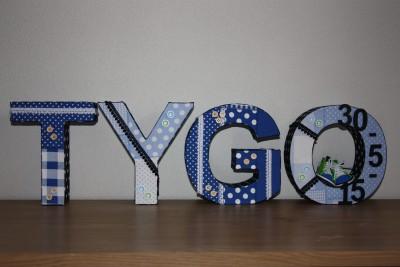 foto decoratieletters Tygo