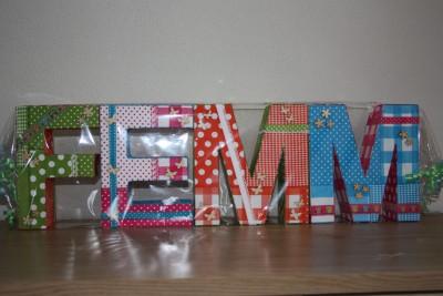 foto decoratieletters Femm
