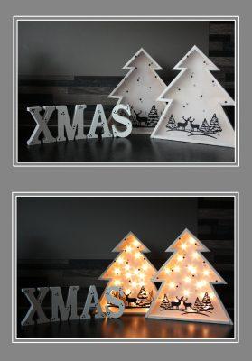 foto houten kerstboompjes